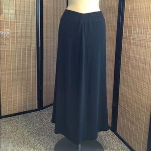 Classic Full Length Black Skirt 4P NWT